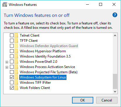 Installing and Activating Windows Subsystem for Linux on