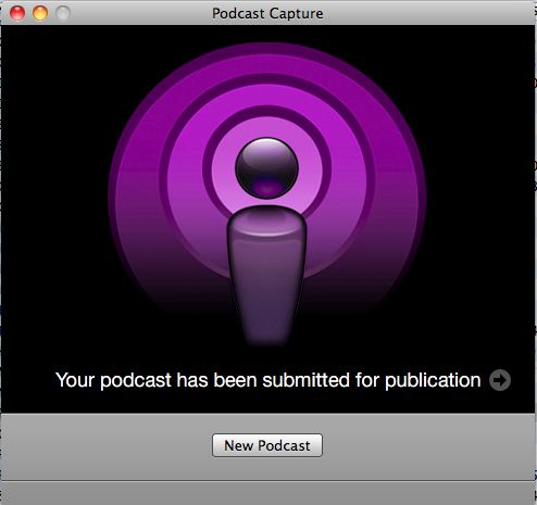 Countdown to capture podcast.